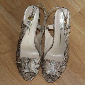 Sam & Libby snake print heels sz. 11